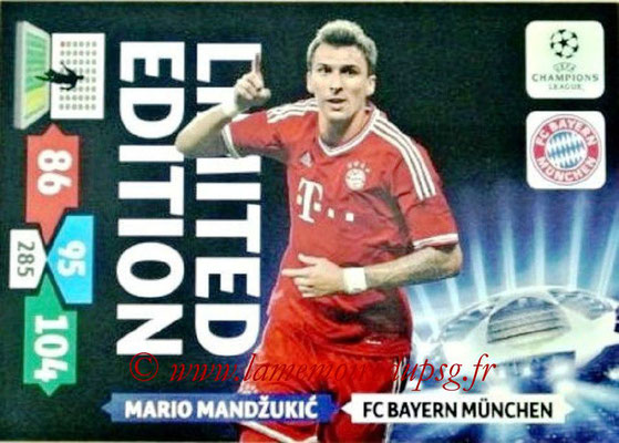 2013-14 - Adrenalyn XL champions League N° LE18 - Mario MANDZUKIC (FC Bayern Munich) (Limited Edition)