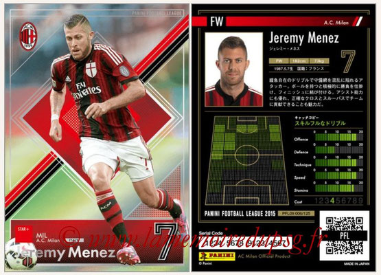 Panini Football League 2015 - PFL09 - N° 006 - Jeremy MENEZ (Milan AC)