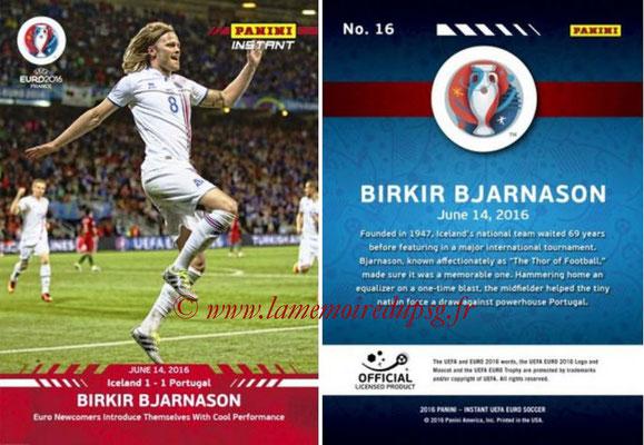 Panini Instant Euro 2016 - N° 016 - Birkir BJARNASON