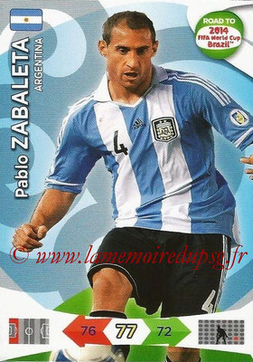2014 - Panini Road to FIFA World Cup Brazil Adrenalyn XL - N° 002 - Pablo ZABALETA (Argentine)