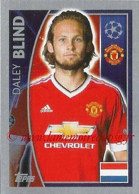2015-16 - Topps UEFA Champions League Stickers - N° 108 - Daley BLIND (Manchester United FC)