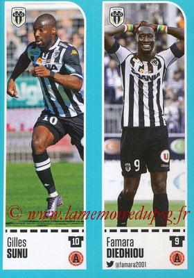 2016-17 - Panini Ligue 1 Stickers - N° 018 + 019 - Gilles SUNU + Famara DIEDHIOU (Angers)