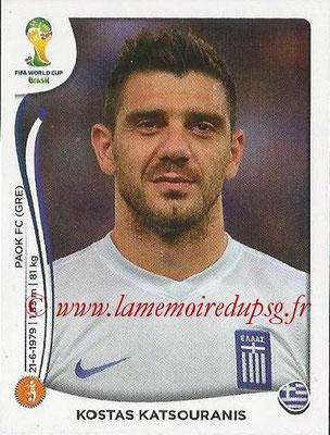 2014 - Panini FIFA World Cup Brazil Stickers - N° 214 - Kostas KATSOURANIS (Grèce)