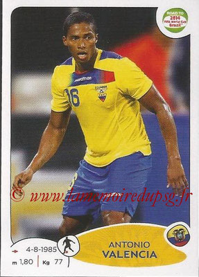 2014 - Panini Road to FIFA World Cup Brazil Stickers - N° 196 - Antonio VALENCIA (Equateur)