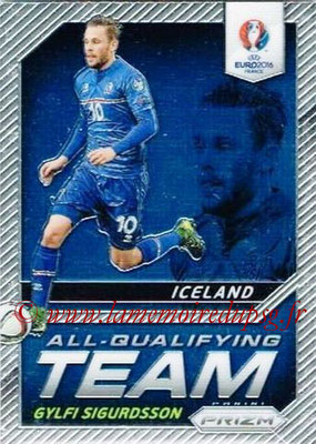 Euro 2016 Panini Prizm - N° AQ-08 - Gylfi SIGURDSSON (Islande) (All-Qualifying Team)