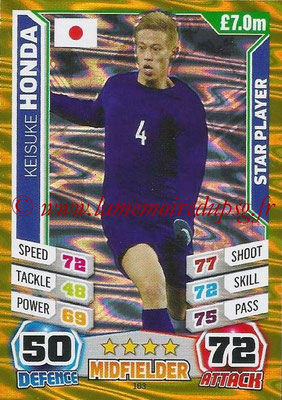 Topps Match Attax England 2014 - N° 163 - Keisuke HONDA (Japon) (Star Player)