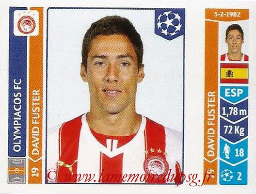 2014-15 - Panini Champions League N° 080 - David FUSTER (Olympiacos FC)