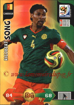 2010 - Panini FIFA World Cup South Africa Adrenalyn XL - N° 054 - Rigobert SONG (Cameroun)
