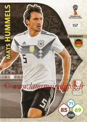 2018 - Panini FIFA World Cup Russia Adrenalyn XL - N° 157 - Mats HUMMELS (Allemagne)