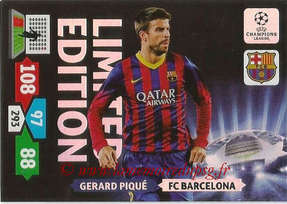 2013-14 - Adrenalyn XL champions League N° LE08 - Gerard PIQUE (FC Barcelone) (Limited Edition)