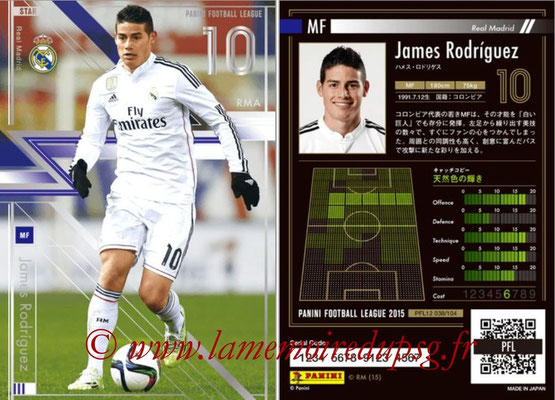 Panini Football League 2015 - PFL12 - N° 038 - James RODRIGUEZ (Real Madrid) (Star)