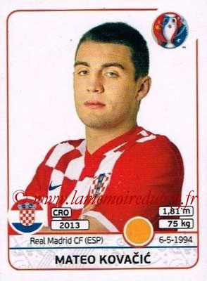 Panini Euro 2016 Stickers - N° 449 - Mateo KOVACIC (Croatie)