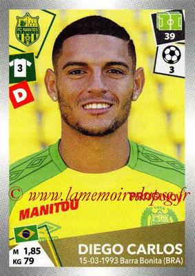 2017-18 - Panini Ligue 1 Stickers - N° 315 - Diego CARLOS (Nantes)