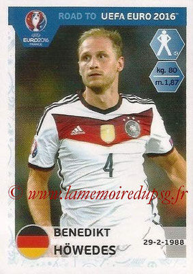 Panini Road to Euro 2016 Stickers - N° 052 - Benedikt HOWEDES (Allemagne)