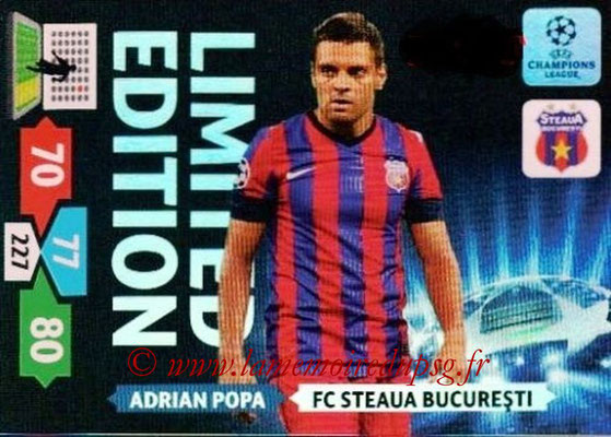 2013-14 - Adrenalyn XL champions League N° LE48 - Adrian POPA (FC Steaua Bucarest) (Limited Edition)