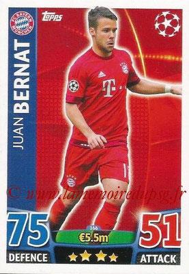 2015-16 - Topps UEFA Champions League Match Attax - N° 166 - Juan BERNAT (FC Bayern Munich)