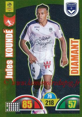2018-19 - Panini Adrenalyn XL Ligue 1 - N° 406 - Jules KOUNDE (Bordeaux) (Diamant)