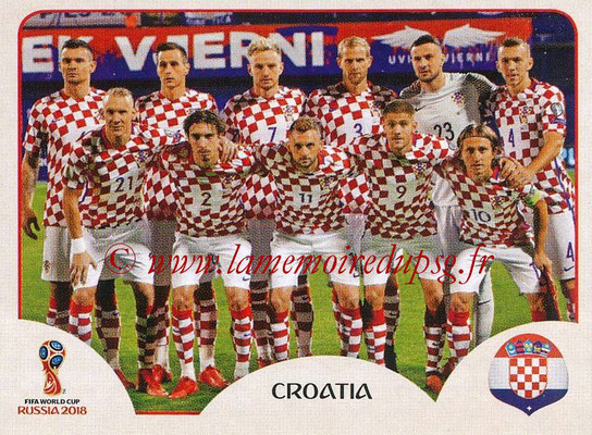 2018 - Panini FIFA World Cup Russia Stickers - N° 313 - Equipe Croatie