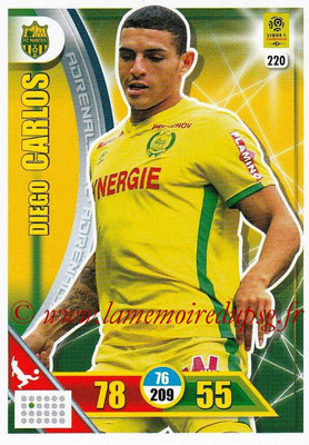 2017-18 - Panini Adrenalyn XL Ligue 1 - N° 220 - Diego CARLOS (Nantes)