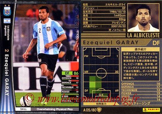 2012-13 - WCCF - N° A05 - Ezequiel GARAY (Argentine)