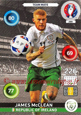 Panini Euro 2016 Cards - N° 288 - James McCLEAN (République d Irlande)