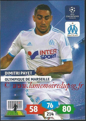 2013-14 - Adrenalyn XL champions League N° 213 - Dimitri PAYET (Olympique de Marseille)