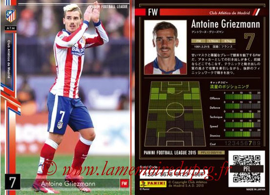 Panini Football League 2015 - PFL13 - N° 050 - Antoine GRIEZMANN (Club Atletico de Madrid)