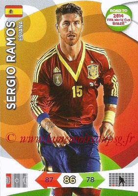 2014 - Panini Road to FIFA World Cup Brazil Adrenalyn XL - N° 076 - Sergio RAMOS (Espagne)