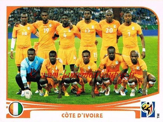 2010 - Panini FIFA World Cup South Africa Stickers - N° 524 - Équipe Côte d'Ivoire