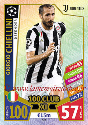 2017-18 - Topps UEFA Champions League Match Attax - N° 422 - Giorgio CHIELLINI (Juventus) (UCL Club XI)