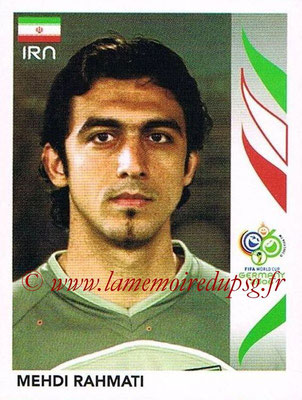 2006 - Panini FIFA World Cup Germany Stickers - N° 281 - Mehdi RAHMATI (Iran)