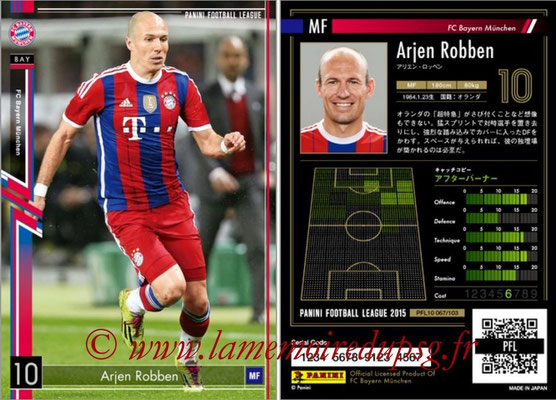 Panini Football League 2015 - PFL10 - N° 067 - Arjen ROBBEN (Bayern Munich)