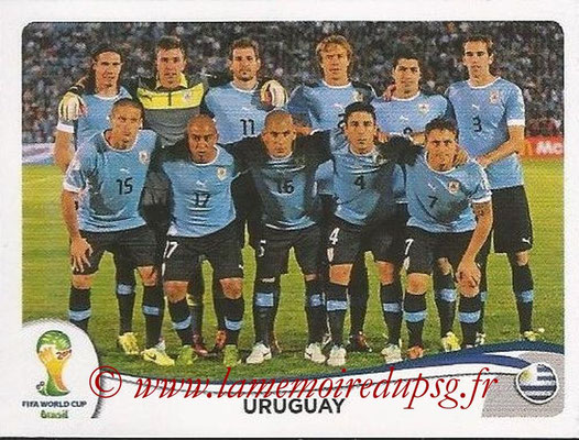 2014 - Panini FIFA World Cup Brazil Stickers - N° 261 - Equipe Uruguay
