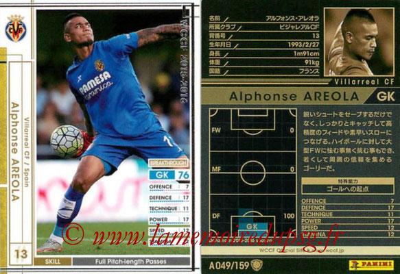 N° A049 - Alphonse AREOLA (2012-15, PSG > 2015-16, Prêt Villareal, ESP)
