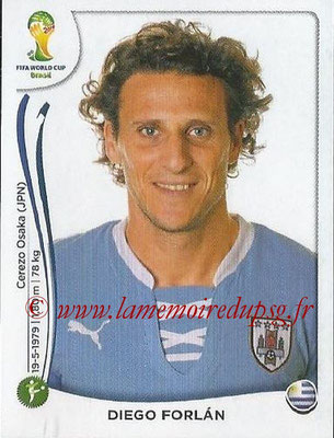 2014 - Panini FIFA World Cup Brazil Stickers - N° 276 - Diego FORLAN (Uruguay)