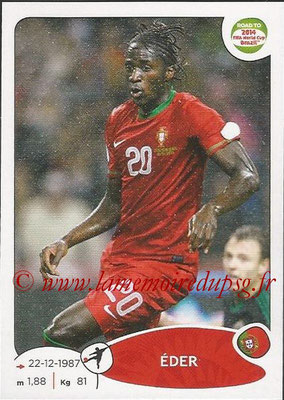 2014 - Panini Road to FIFA World Cup Brazil Stickers - N° 324 - EDER (Portugal)