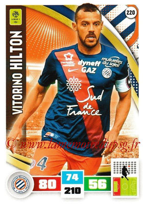 2016-17 - Panini Adrenalyn XL Ligue 1 - N° 220 - Vitorino HILTON (Montpellier)