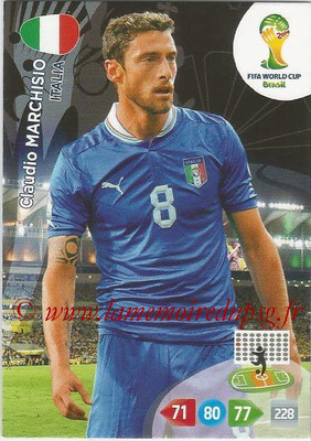 2014 - Panini FIFA World Cup Brazil Adrenalyn XL - N° 215 - Claudio MARCHISIO (Italie)