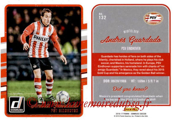 2016 - Panini Donruss Cards - N° 132 - Andrés GUARDADO (PSV Eindhoven)