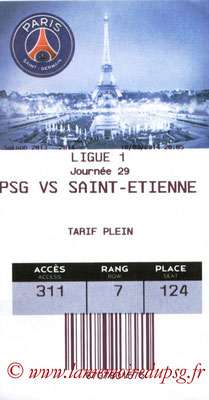 Tickets  PSG-Saint Etienne  2013-14