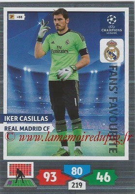2013-14 - Adrenalyn XL champions League N° 313 - Iker CASILLAS (Real Madrid CF) (Fans' Favourite)