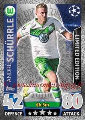 2015-16 - Topps UEFA Champions League Match Attax - N° LE8 - André SCHÜRRLE (VFL Wolfsburg) (Limited Edition Silver)