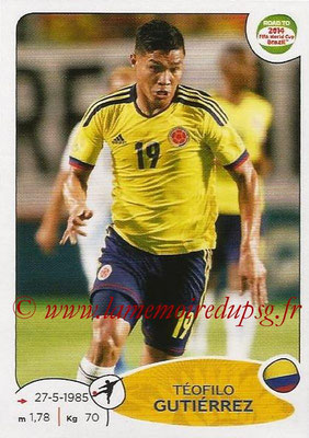2014 - Panini Road to FIFA World Cup Brazil Stickers - N° 185 - Téofilo GUTIERREZ (Colombie)