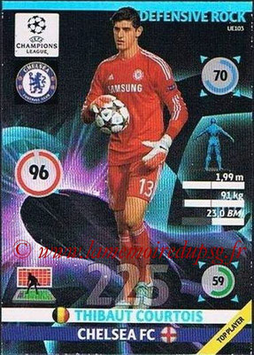 2014-15 - Adrenalyn XL champions League Update edition N° UE103 - Thibaut COURTOIS (Chelsea FC) (Defensive Rock)