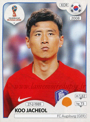 2018 - Panini FIFA World Cup Russia Stickers - N° 500 - Koo JACHEOL (Corée du Sud)