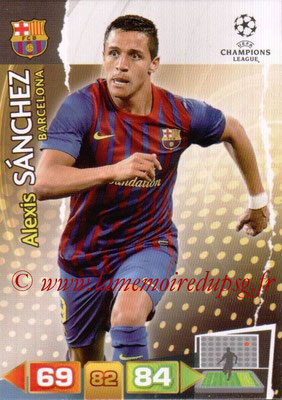 2011-12 - Panini Champions League Cards - N° 037 - Alexis SANCHEZ (FC Barcelone)