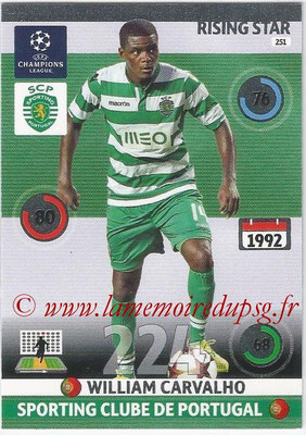 2014-15 - Adrenalyn XL champions League N° 251 - William CARVALHO (Sporting Club de Portugal) (Rising star)