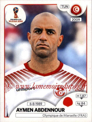 2018 - Panini FIFA World Cup Russia Stickers - N° 557 - Aymen ABDENNOUR (Tunisie)