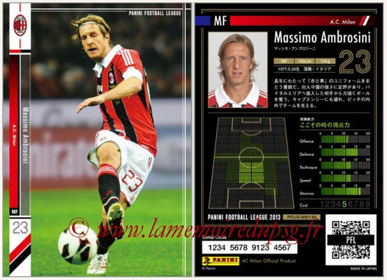 Panini Football League 2013 - PFL03 - N° 005 - Massimo Ambrosini (Milan AC)