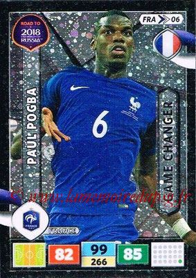 2018 - Panini Road to FIFA World Cup Russia Adrenalyn XL - N° FRA06 - Paul POGBA (France) (Game Changer)